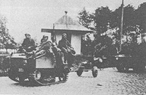 Een K47 op weg tijdens de oorlogsdagen